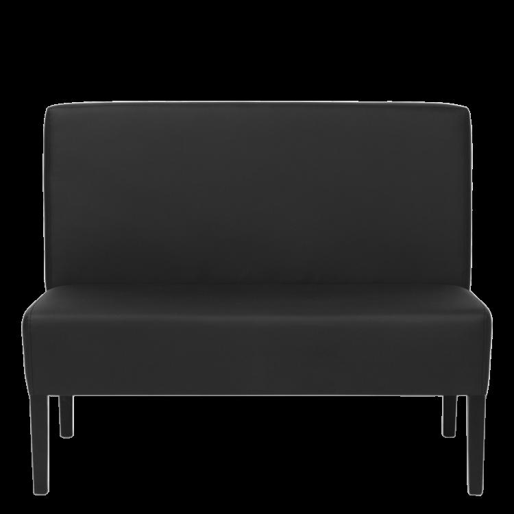 Banquette Amsterdam classique similicuir noir 110cm