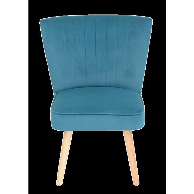 Chaise Colombo velours bleu