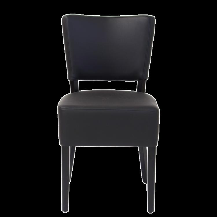 Chaise Brasilia en simili cuir noire
