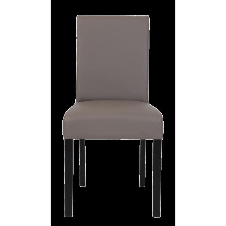 Chaise Moroni taupe en cuir artificiel pour restaurant