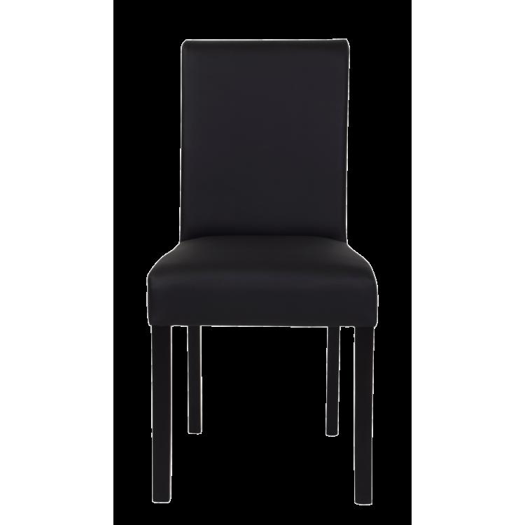 Chaise Moroni noire en cuir artificiel pour restaurant