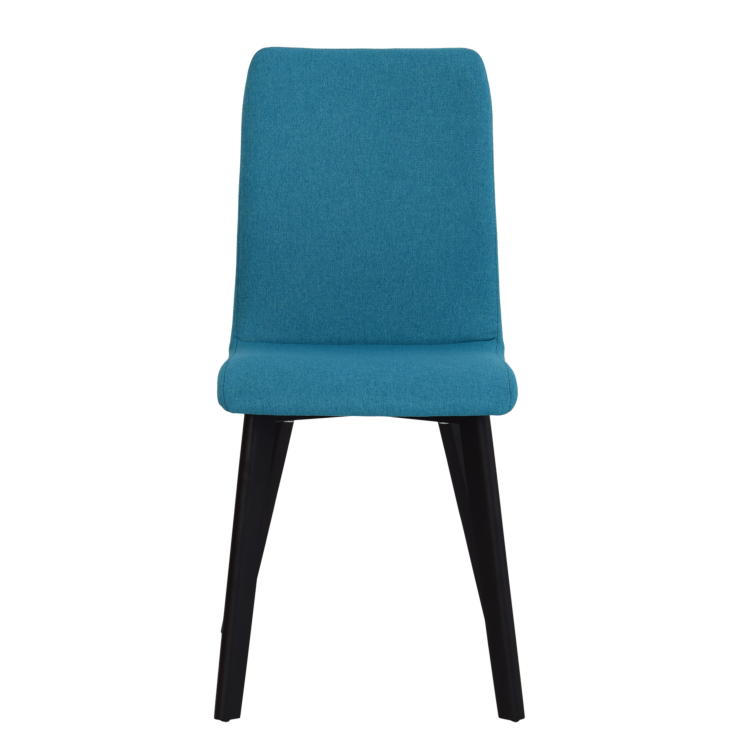 Chaise Bucarest lounge en tissu bleu