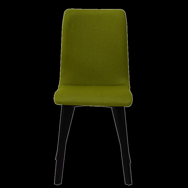 Chaise Bucarest lounge en tissu vert