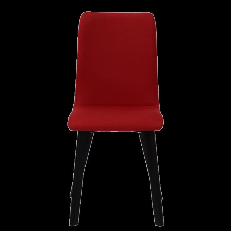 Chaise Bucarest lounge en tissu rouge