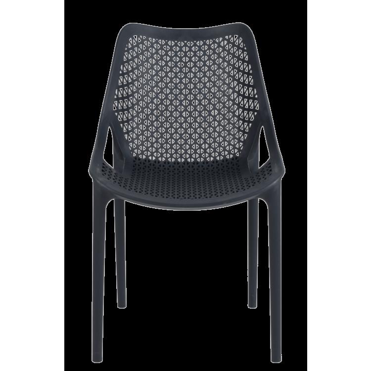 Chaise Panama grise pour terrasse de café