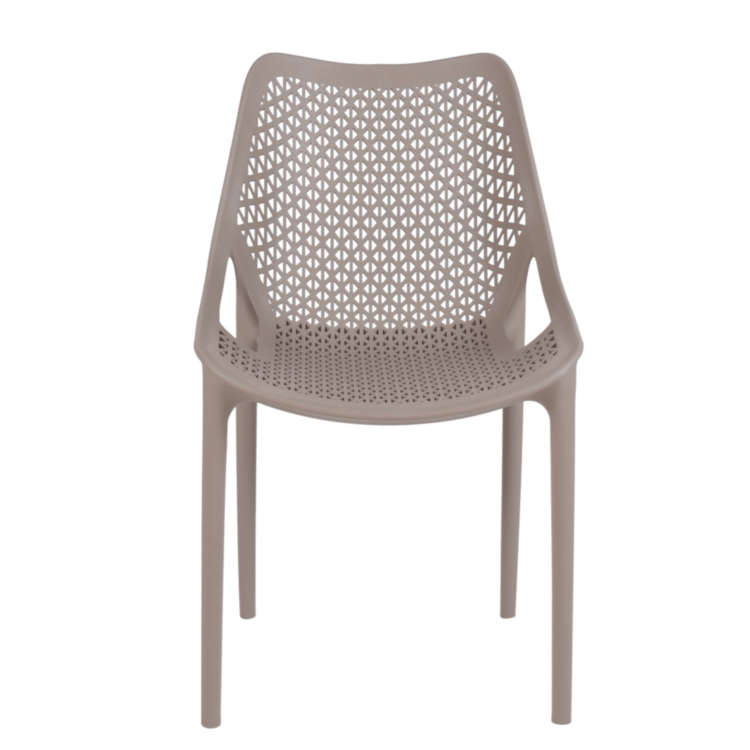 Chaise Panama beige pour terrasse de café