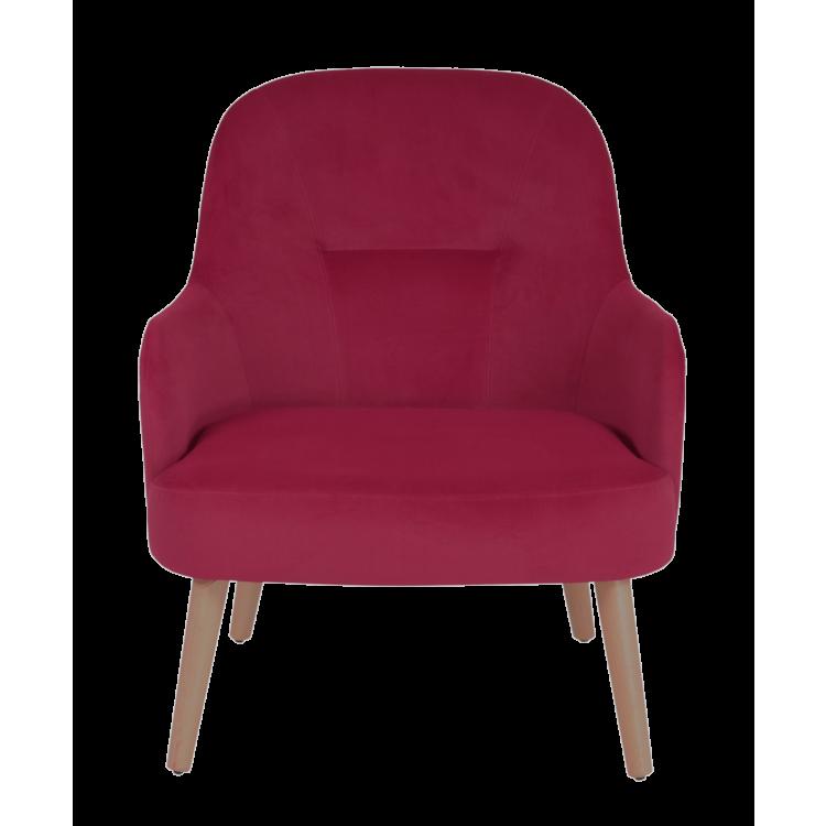Fauteuil Lisbonne en velours rouge