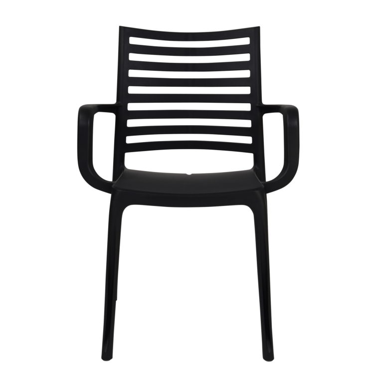 Fauteuil Oslo empilable anthracite pour terrasse