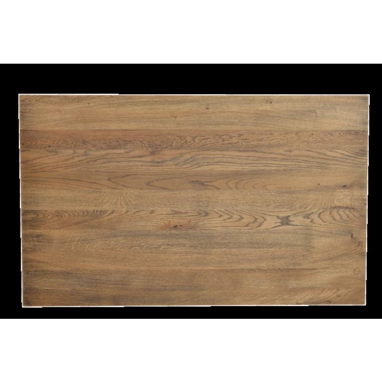 Plateau Cardiff en chêne massif vieilli tabac 115x70 cm