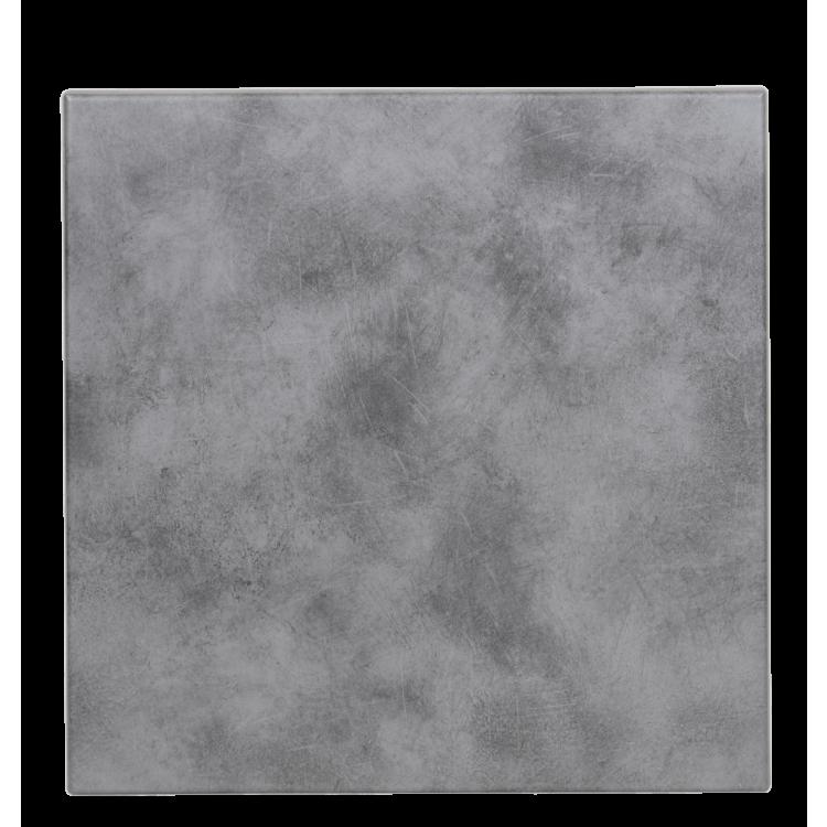 Plateau Stratifié Moulé Copperfield Béton 70x70