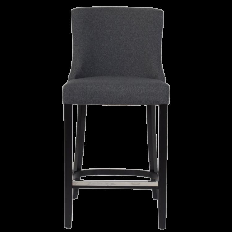 Tabouret Moscou pour bar en tissu gris avec hauteur d'assise 65 cm