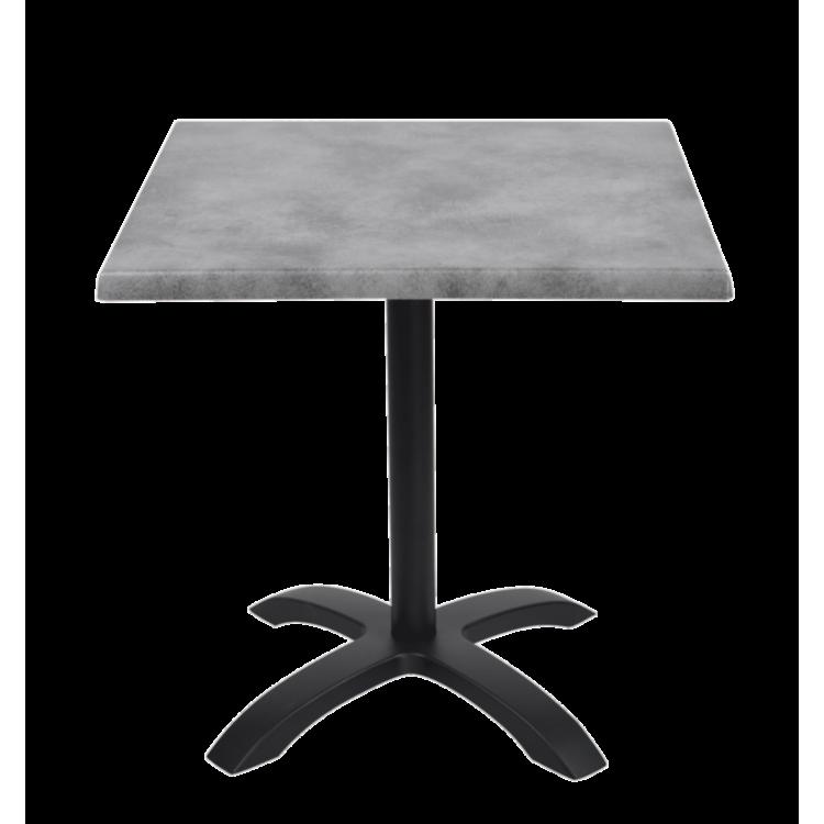Table Copperfield stratifié moulé 70x70 avec pied