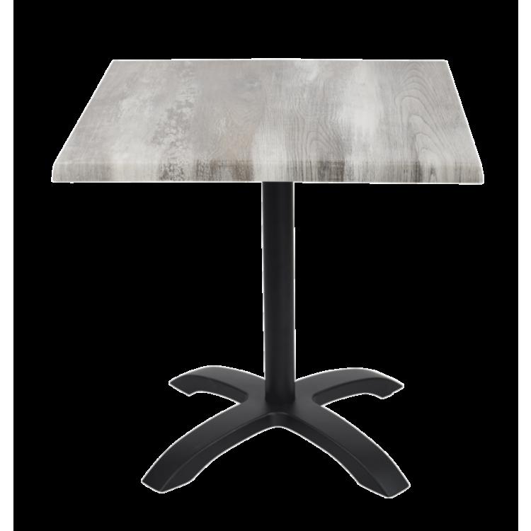 Table Iceland Oak Stratifié moulé 70x70 avec pied