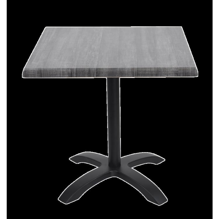 Table Palissade Grise stratifié moulé 70x70 avec pied