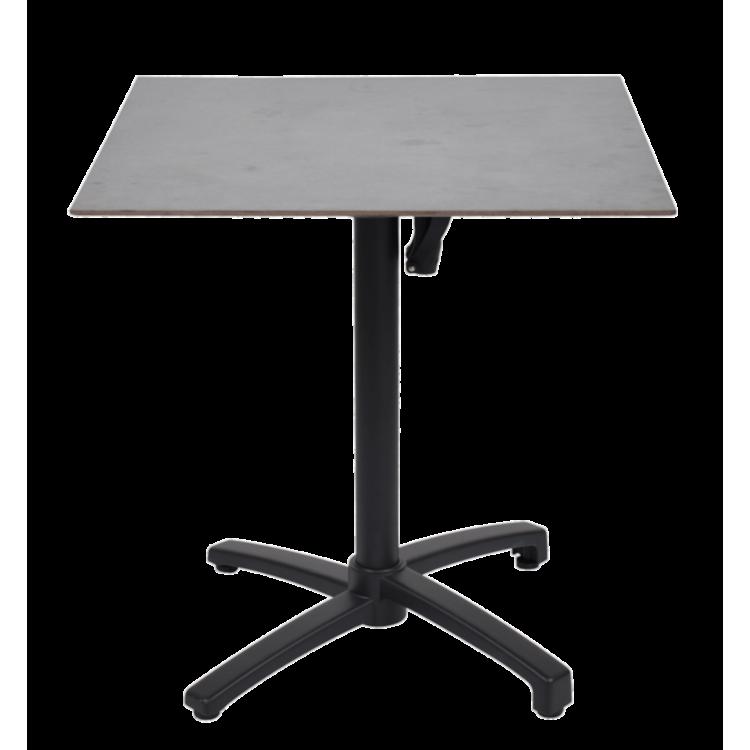 Table Vulcano 70x70 compact avec pied rabattable